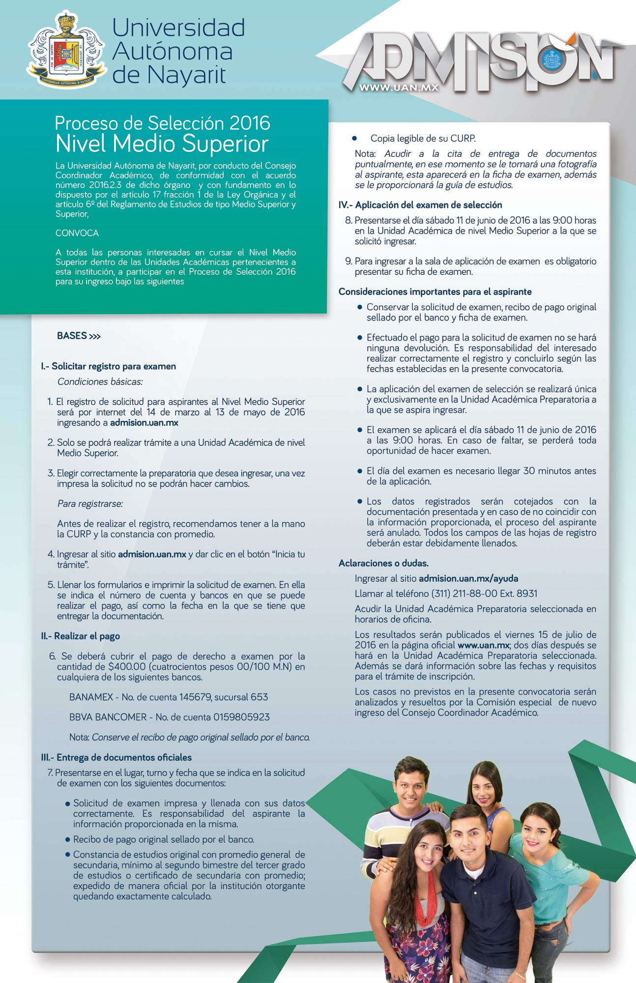 Convocatorias proceso de admisi n 2016 for Convocatorias para profesores 2016